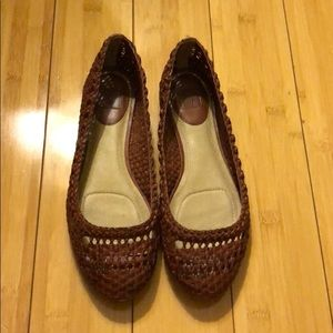 Frye Emma Woven Flats Brown Size 8.5